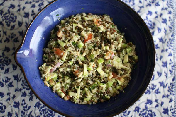 Taboulé aux lentilles vertes et quinoa