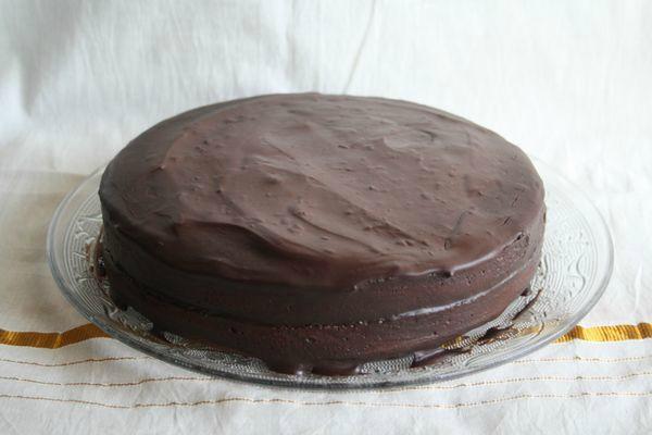 gâteau au chocolat et abricot