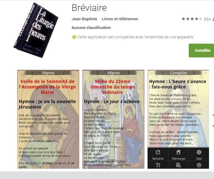 """L'appli """"Bréviaire"""" : testé et approuvé"""