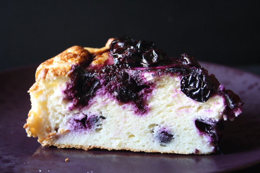 Gateau fromage blanc myrtilles blueberry cheese cake 1