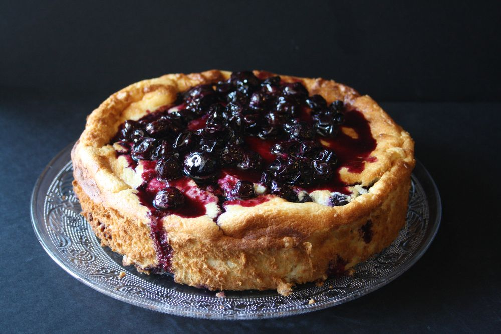 Gateau fromage blanc myrtilles blueberry cheese cake 2