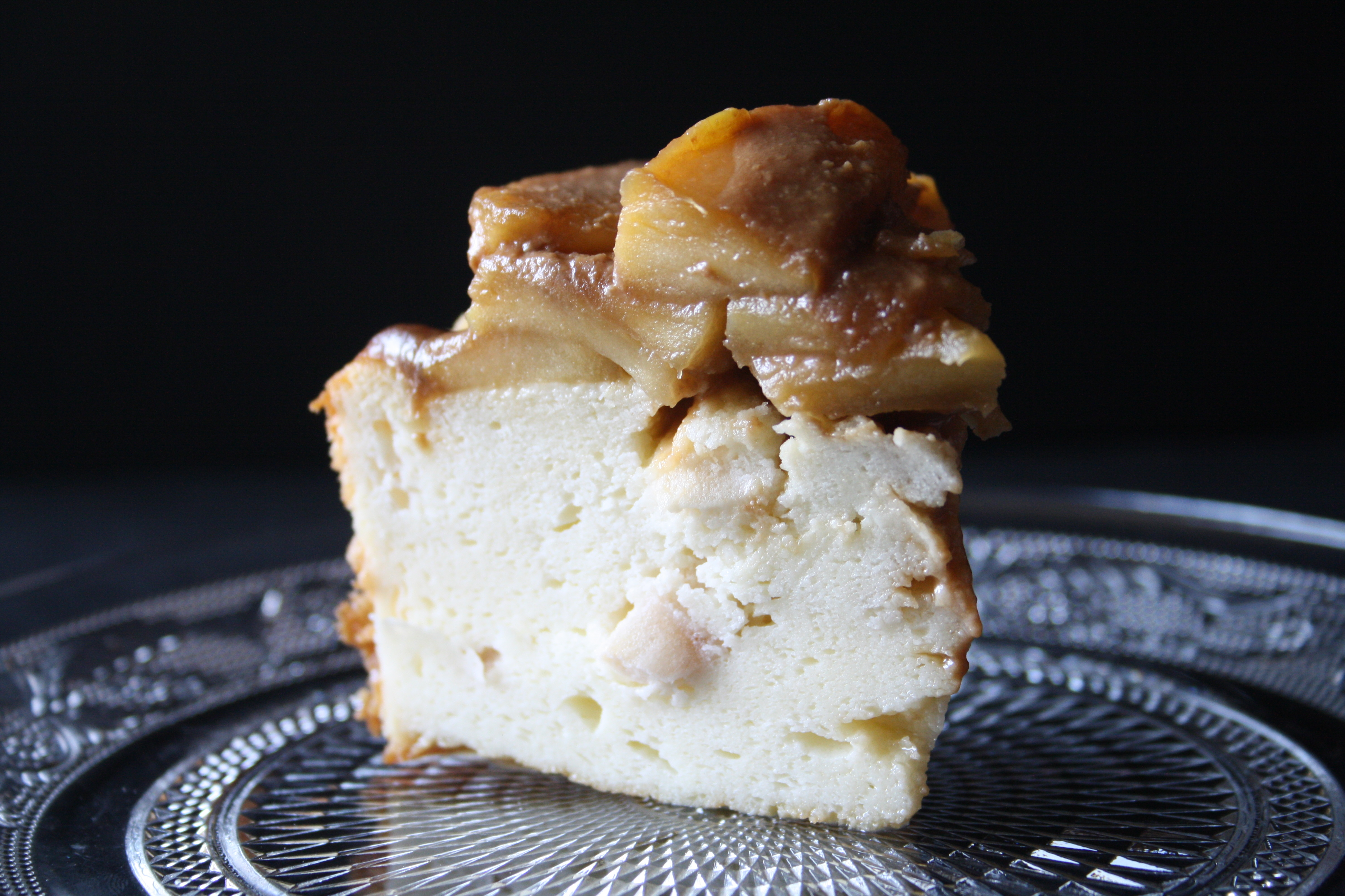 Gâteau fromage blanc pommes