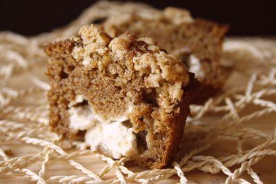 Muffins potiron fourres au cheesecake